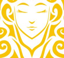 Zodiac Sign Virgo Gold Sticker