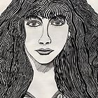 46 - KATE BUSH - DAVE EDWARDS - INK - 1981 by BLYTHART