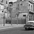 Vintage Car in Old Havana Town by Lynn Bolt