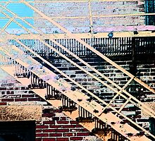 Pueblo Downtown Fire Escape by Lenore Senior