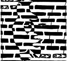 Saxophone Player or Woman Maze by Yonatan Frimer