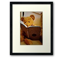 Clever Teddy Framed Print