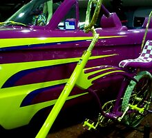 Metalic Bling......Barbie's Car and Dragster by myraj