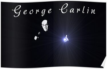George Carlin by Omar Dakhane