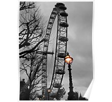 London Eye and street lamps Poster