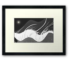Poetry in Black & White Framed Print