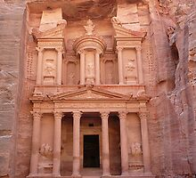 The Treasury at Petra by eugenz
