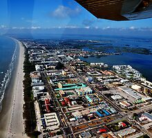 Sky view of Cocoa Beach  by Davidsdigits
