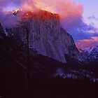 EL CAPITAN,WINTER SUNSET by Chuck Wickham