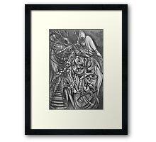 The Rape of Ophelia in Hell. Framed Print