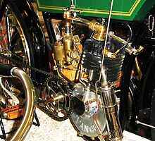 The 1904 Advance Motorcycle by artwhiz47