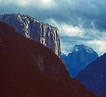 EL CAPITAN AND HALFDOME by Chuck Wickham