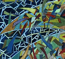 115 - WARPED TRIANGLES - DAVE EDWARDS - WATERCOLOUR - SEP 2003 by BLYTHART