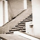 Stairs, Hong Kong China by Andrea Bell
