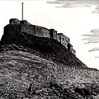 190 - LINDISFARNE CASTLE - DAVE EDWARDS - INK - 1991 by BLYTHART