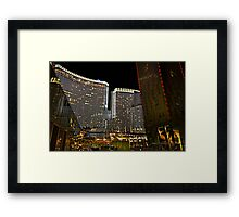 Aria Hotel & Casino, Las Vegas, NV Framed Print