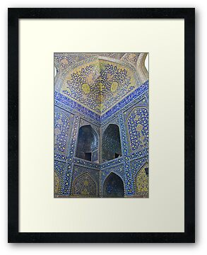Inside Imam Mosque II - Isfahan - Iran by Bryan Freeman