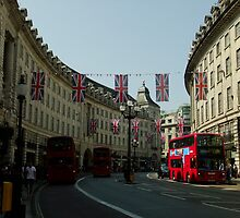 Regent Street, Royal Wedding decorations by Themis
