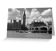 Working  Boats in mono Greeting Card