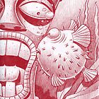 Tiki and Blowfish by Mike Cressy