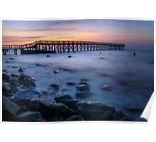 Wooden Pier Sunrise Poster