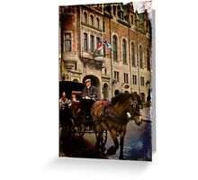 Horse & Carriage, Quebec City Greeting Card