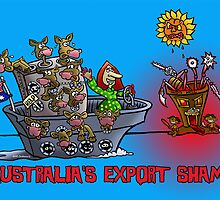 AUSTRALIAN EXPORT SHAME by NHR CARTOONS .