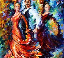 Dance From The Heart - original oil painting on canvas by Leonid Afremov by Leonid  Afremov