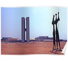 Parliament Buildings, Brasilia. Brazil. 1972. Poster