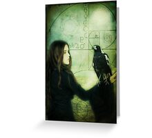 Girl with Magpie Greeting Card