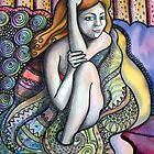 Girl Wrapped in Blanket by Deborah Conroy