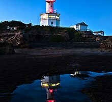 Lonsdale Lighthouse - Pt Lonsdale Victoria by Graeme Buckland