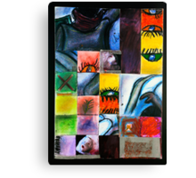 Chaotic Gridded Life of Mine Canvas Print
