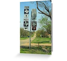Route 66 - Alanreed, Texas Greeting Card