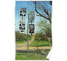 Route 66 - Alanreed, Texas Poster