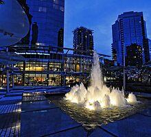 Street light-Sheraton Wall Centre fountain by Tom Davidson