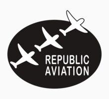 Republic Aviation Repro Logo (Black Ver.) by warbirdwear