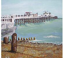 Worthing Beach and Pier, Sussex Photographic Print