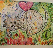 Happy Cat by Lise-Lotte Baarstroem Panaritis