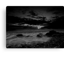 Celtic Sunset in mono Canvas Print