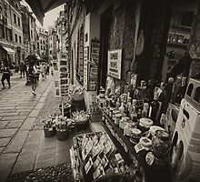 Vernazza street market scene by Tom Davidson