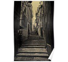 Monterosso al Mare street moody Poster