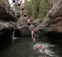 Cliff Jumping in the Jemez by TheBlindHog