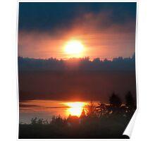 Golden Columbia River Sunrise 5 Poster
