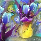 Blue Tulips by ARTforcancer