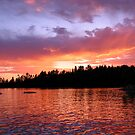 Sunset on Eagle Lake by Eileen McVey