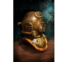 Steampunk - Diving - The diving helmet Photographic Print