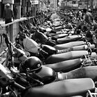 Motorcycles, Kathmandu by John Callaway