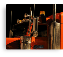 """""""a red [truck] / glazed with rain water"""" Canvas Print"""