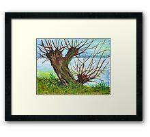 2 WILLOW TREES Framed Print